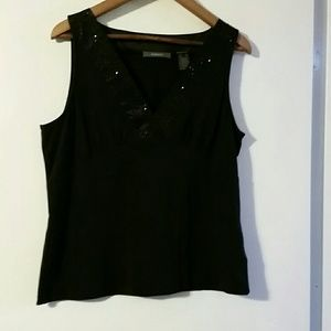 Woman's black Liz Claiborne top sz XL